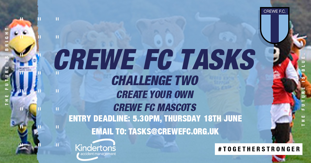 CREWE FC TASKS (S2): CHALLENGE TWO