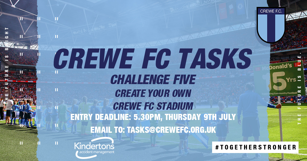 CREWE FC TASKS (S2): CHALLENGE FIVE