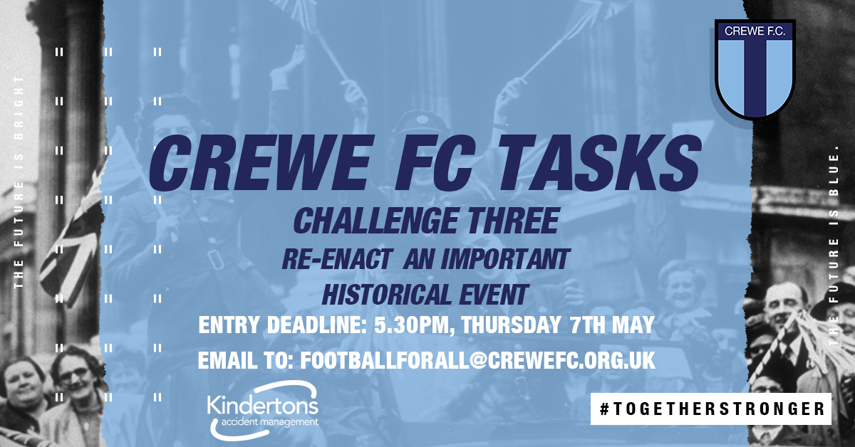 CREWE FC TASKS: CHALLENGE THREE